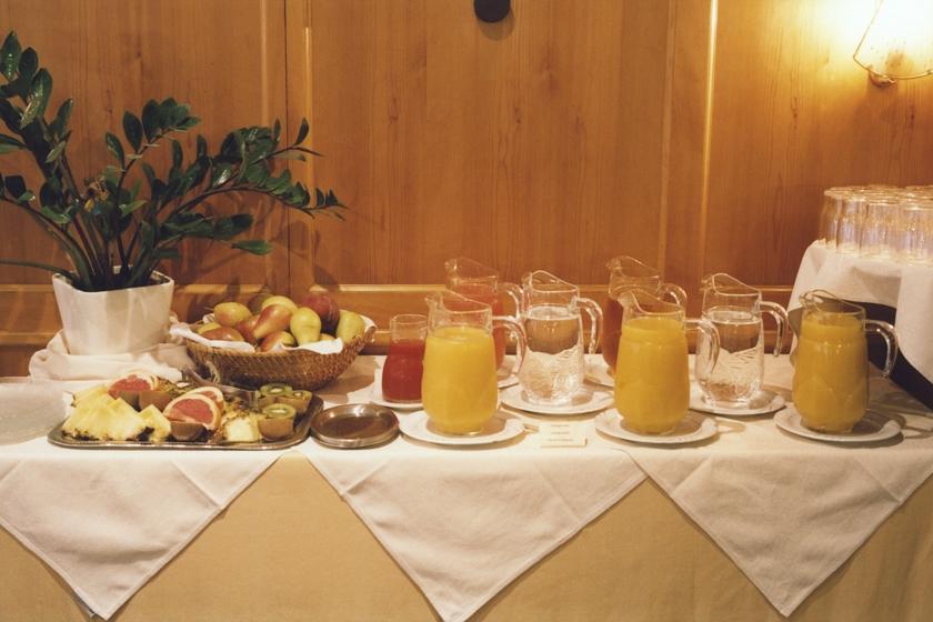 Fisches Obst und Getränkebuffet