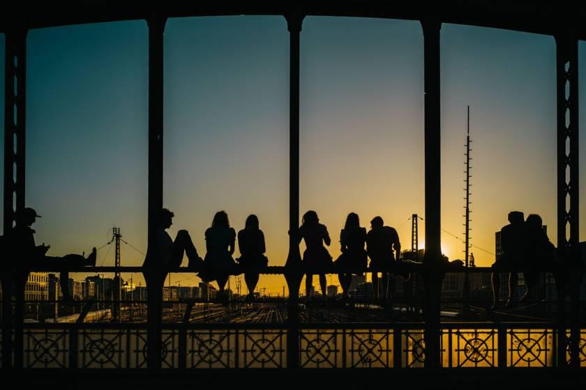 Hackerbrücke Sonnenuntergang dm0220