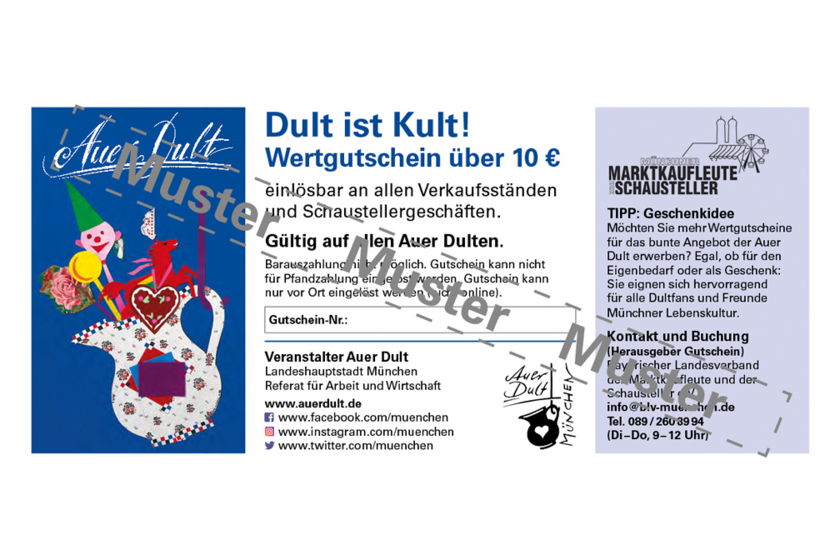 """Gutscheinaktion """"Auer Dult"""" Wertgutschein Grafik"""