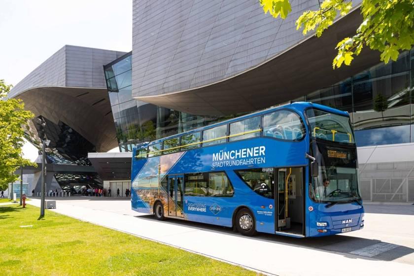 Stadtrundfahrt Blauer Bus Sightseeing BMW Welt