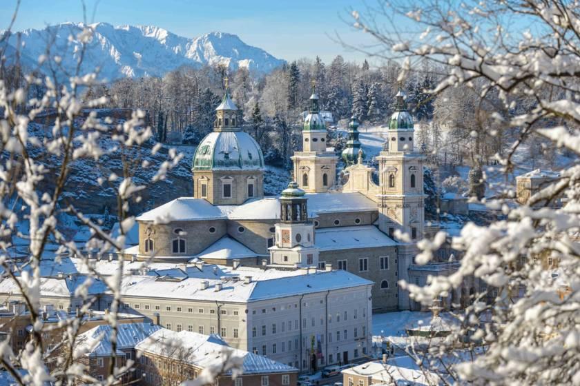 Salzburg Dom im Winter