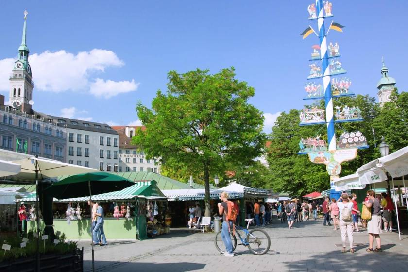 Viktualienmarkt Fahrrad Maibaum Still Redline 1522