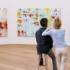"""Die zwölf Gemälde von CyTwomblys """"Lepanto-Zyklus"""" beanspruchen im Museum Brandhorst einen eigenen Raum."""