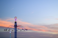 You can fly towards the evening in the chairoplane - up to 80 metres above the ground.