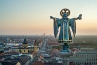 The Münchner Kindl is a child-like figure of a monk who has been adorning the municipal coat of arms since the 13th century.