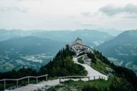 A hike to the Kehlsteinhaus is rewarded with an amazing panoramic view of the Berchtesgadener Land and the area around Salzburg.