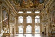 Der Steinerne Saal in Schloss Nymphenburg ist seit seiner Fertigstellung 1758 unverändert.