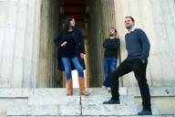 Die Künstler von We Are Video: Betty Mü, Christian Gasteiger und Raphael Kurig