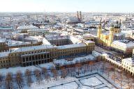 Von der Theatinerkirche bis zur Frauenkirche – ein wunderbarer Überblick über die verschneite Altstadt.
