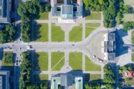 Auf dem Königsplatz stehen sich die Glyptothek und die Staatliche Antikensammlung direkt gegenüber.