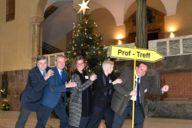 Dr. Frank-W. Strathmann (LMU Transferstelle), Wolfgang Kerkhoff (MCA e.V.), Geraldine Knudson (München Tourismus), Sabine Beutlhauser (LMU Congress Center), Clemens Baumgärtner (Referat für Arbeit und Wirtschaft)