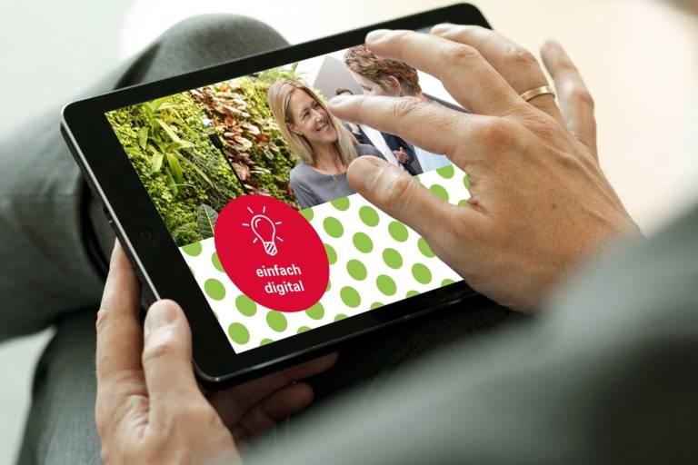 Ipad mit Bild für die Veranstaltung Tourismustag 2020.