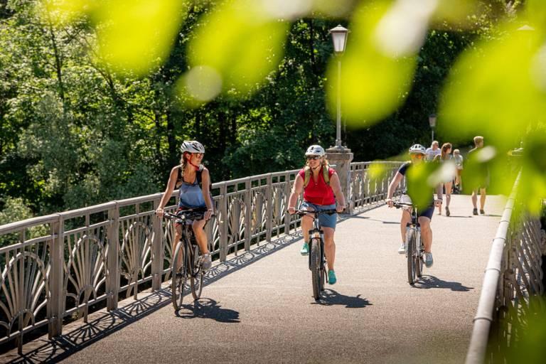 Cyclist in Munich.