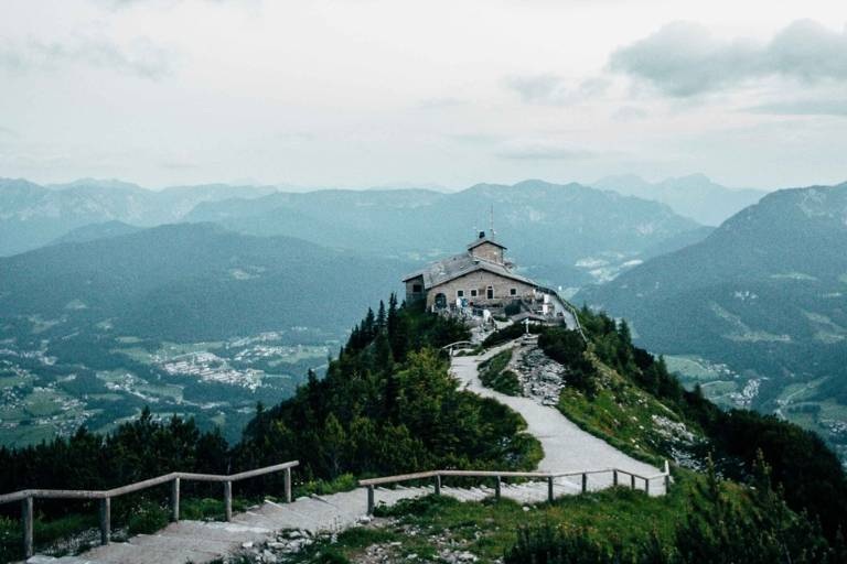 Kehlsteinhaus Berchtesgaden including a panoramic view of the valley in the surroundings of Munich.