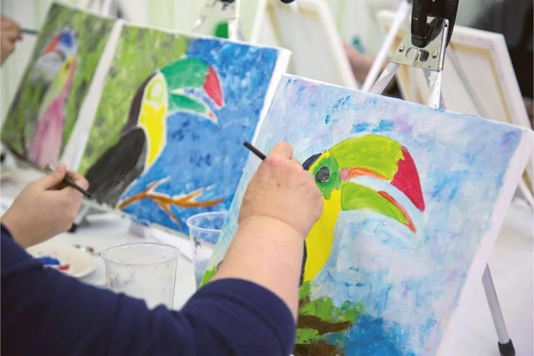 Maler auf der Creativmesse