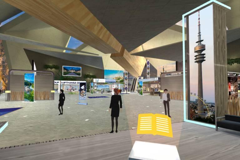 Messestand von München Tourismus bei der Virtual Travel Fair Asia.