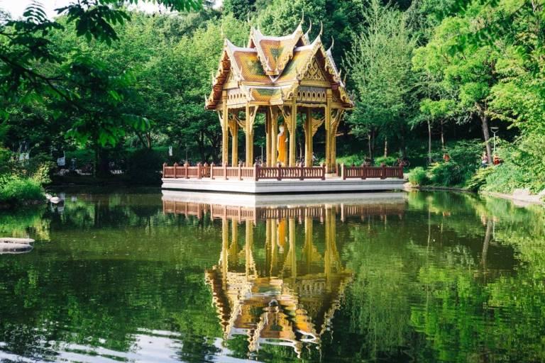 Der japanische Tempel im Münchner Westpark.
