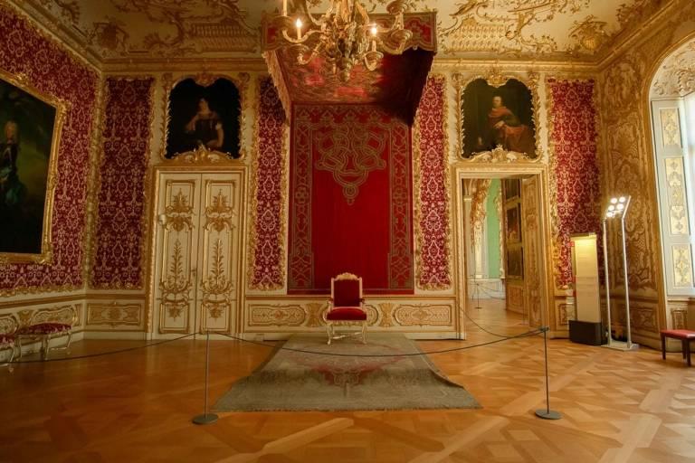 Blick in den Thronsaal der Residenz in München.