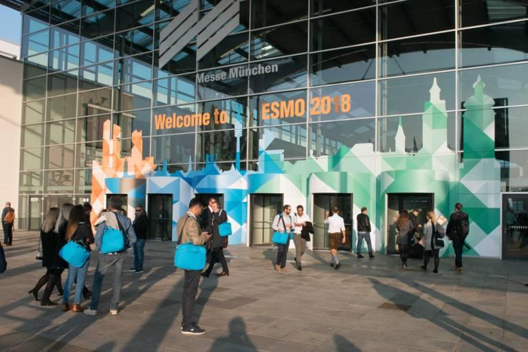 Der Eingangsbereich der Messe München beim ESMO Kongress 2018
