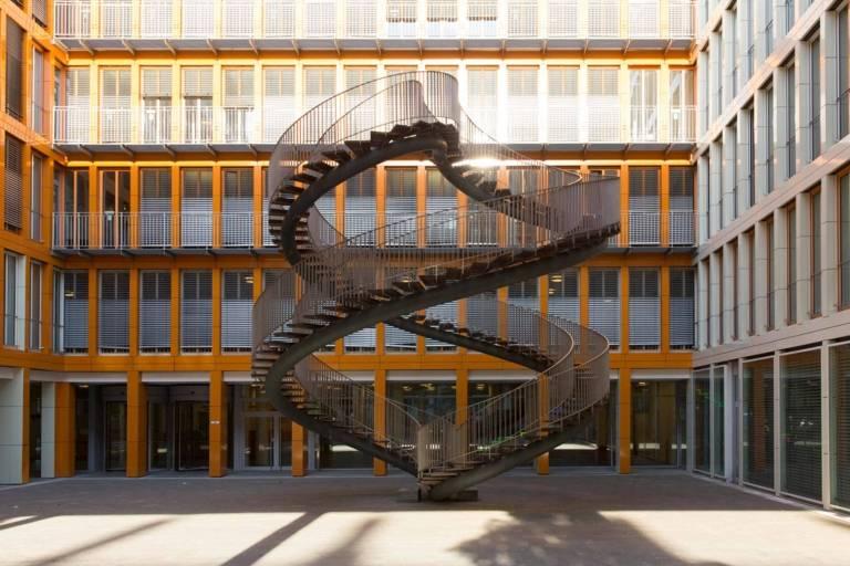 Unendliche Treppe in München.