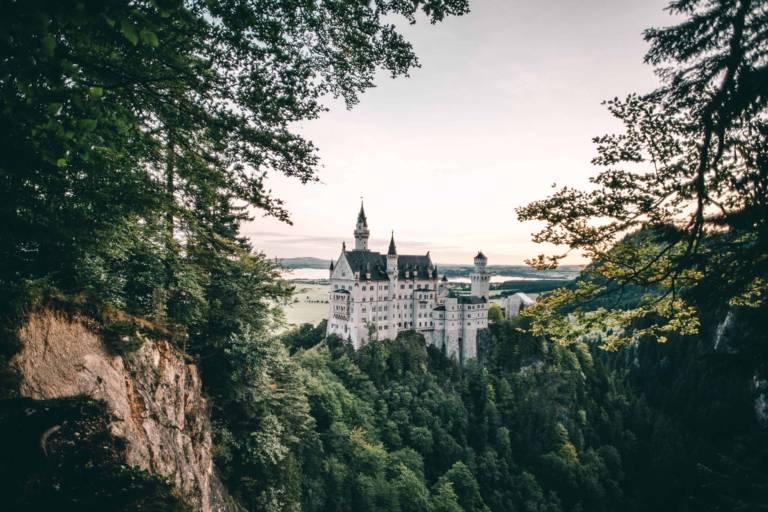 Schloss Neuschwanstein im Umland von München.