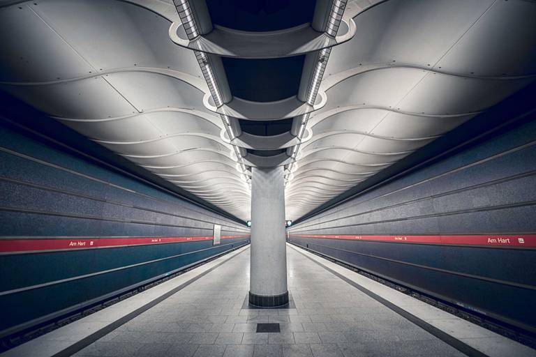 Subway station Am Hart in Munich
